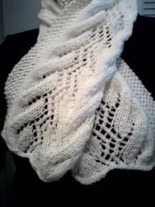 Gossamer Morning scarf lace knitting