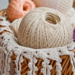 crochet thread in a basket
