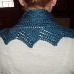 Lace Cowl from the back