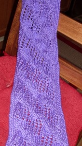 picture of slit scarf laid out