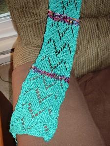 Emerald scarf