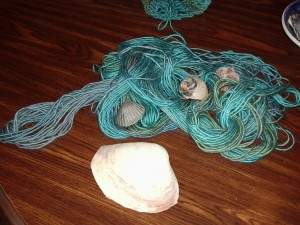 Boutique yarn in blues