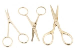 Set of metal scissors
