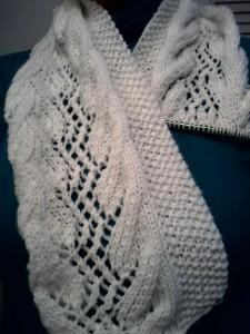 lacy scarf gossamer