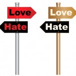 Love & Hate signs