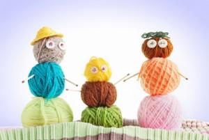 3 people in yarn