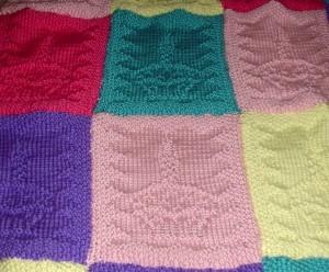 Cupcake baby blanket