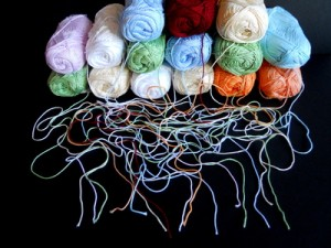 A bundle of yarns for chinese new year