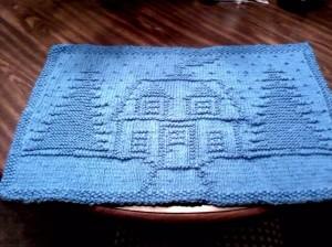blue placemat