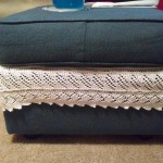 knit border for ottoman