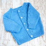 knitted blue sweater