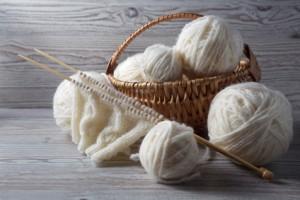knitting yarn on a table