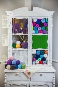 yarn curio with yarns
