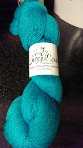 Jaggerspun Zephyr turquoise yarn