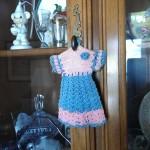 Little crocheted pink/blue dress