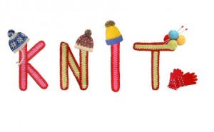 knitted letters