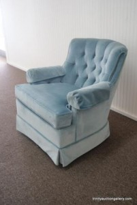 picture of a blue rocking chair