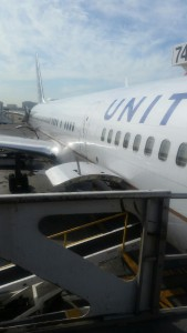 picture of the side of a united jet for arm knitting