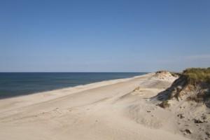 Empty beach late summer