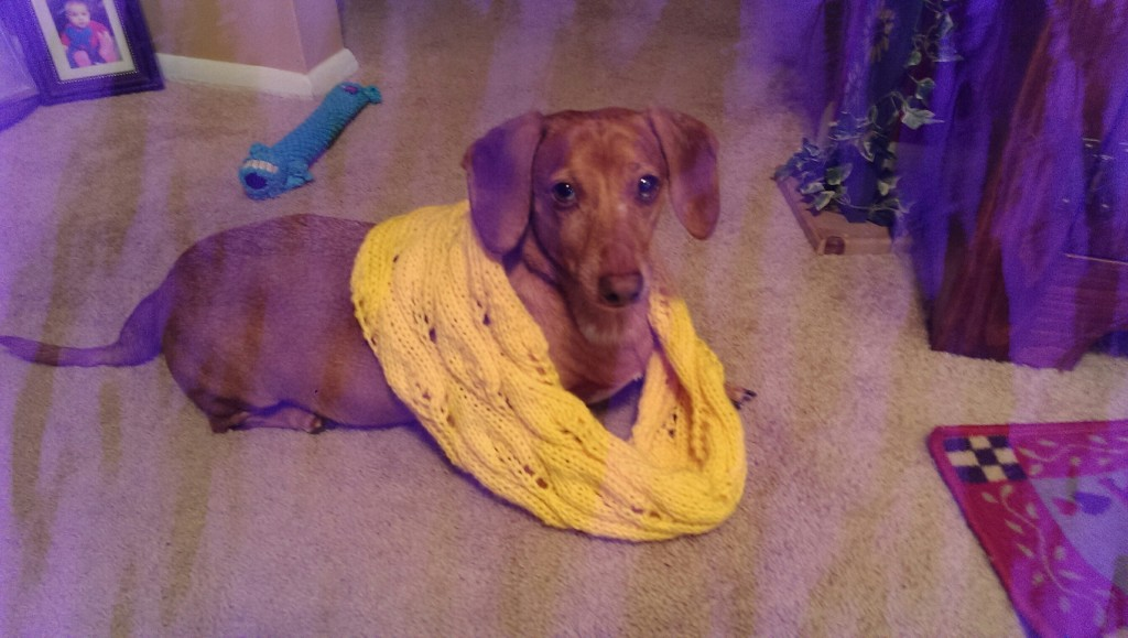 Scooter modeling a yellow cowl