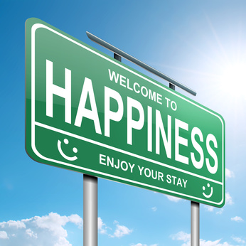 Happiness sign in green